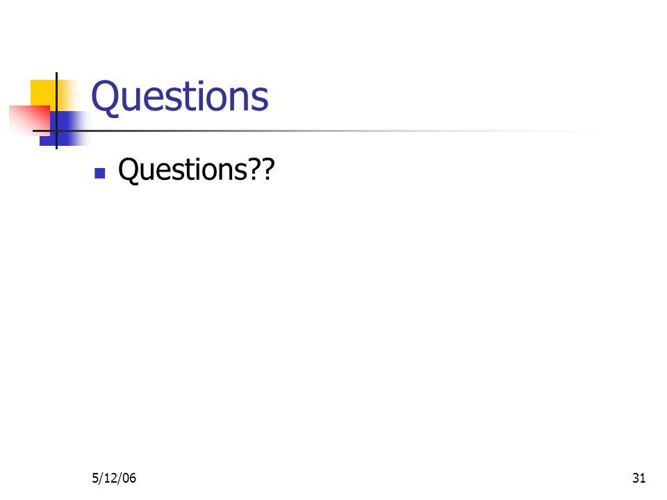 5/12/0631 Questions Questions
