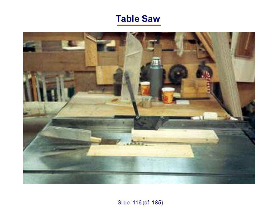 Slide 116 (of 185) Table Saw