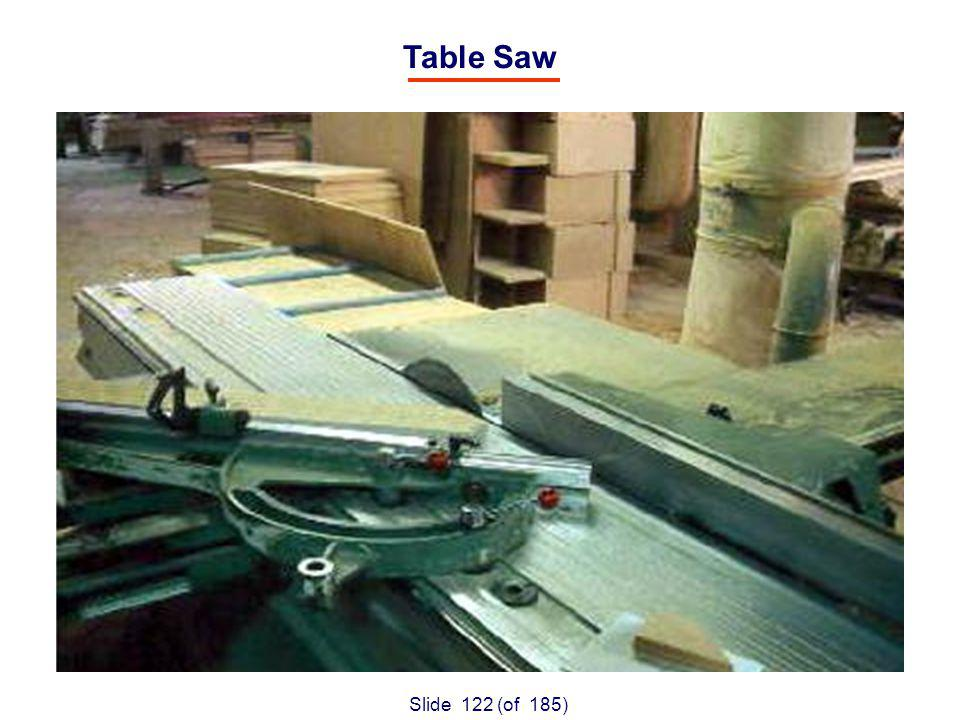 Slide 122 (of 185) Table Saw