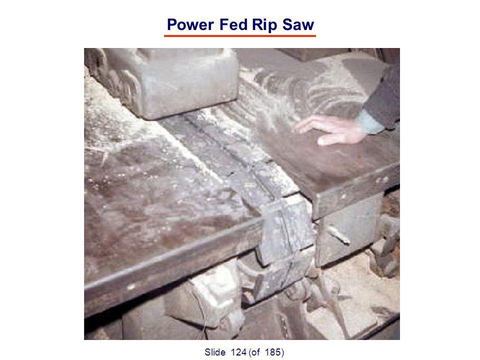 Slide 124 (of 185) Power Fed Rip Saw