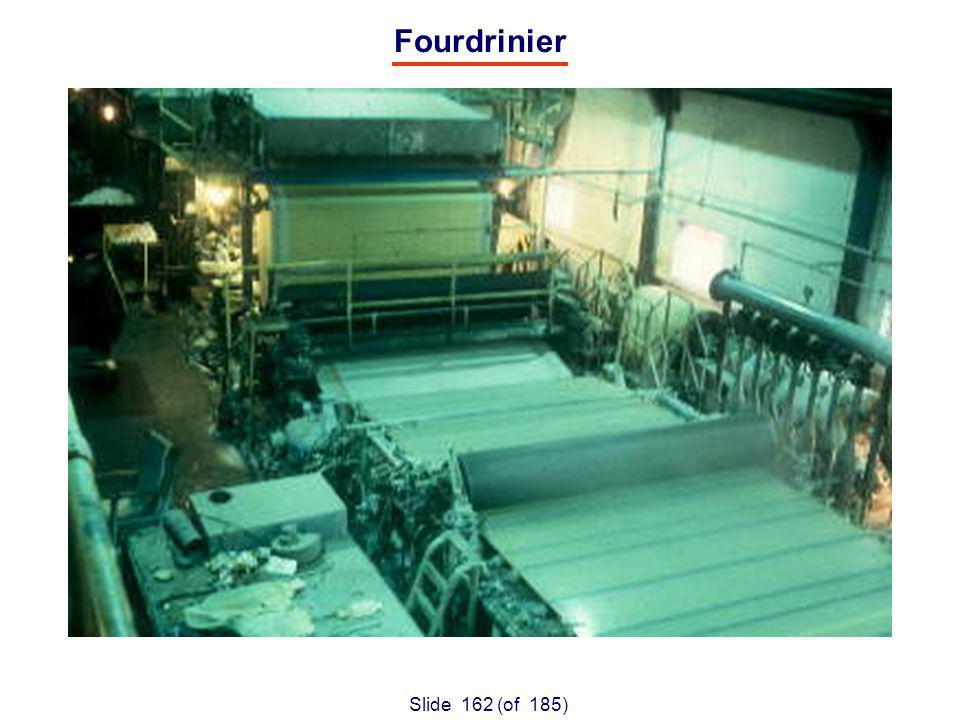 Slide 162 (of 185) Fourdrinier