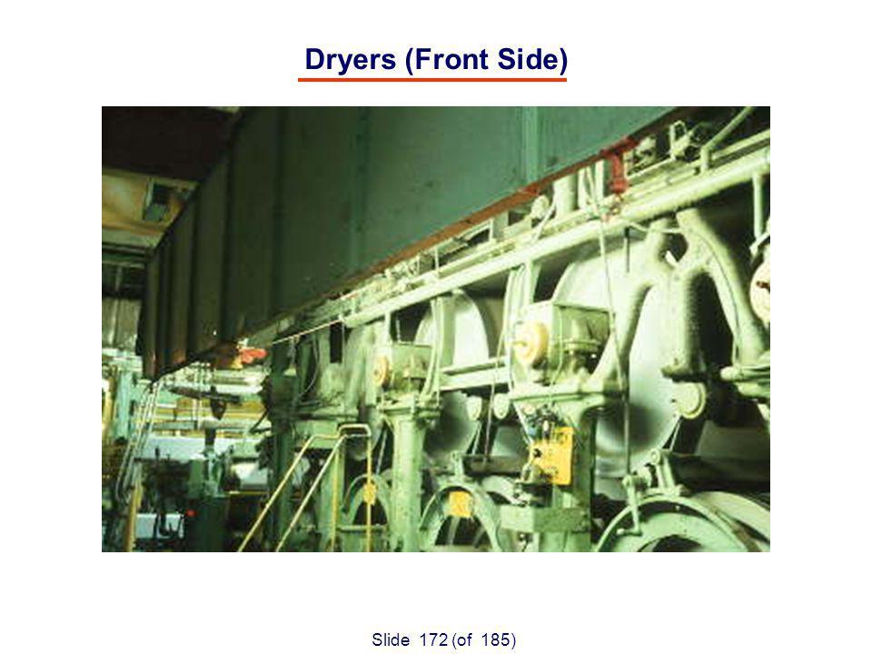 Slide 172 (of 185) Dryers (Front Side)