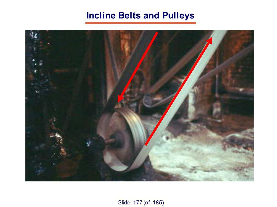 Slide 177 (of 185) Incline Belts and Pulleys