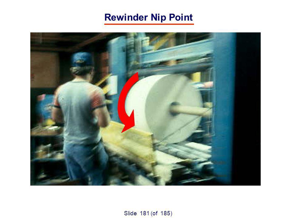 Slide 181 (of 185) Rewinder Nip Point