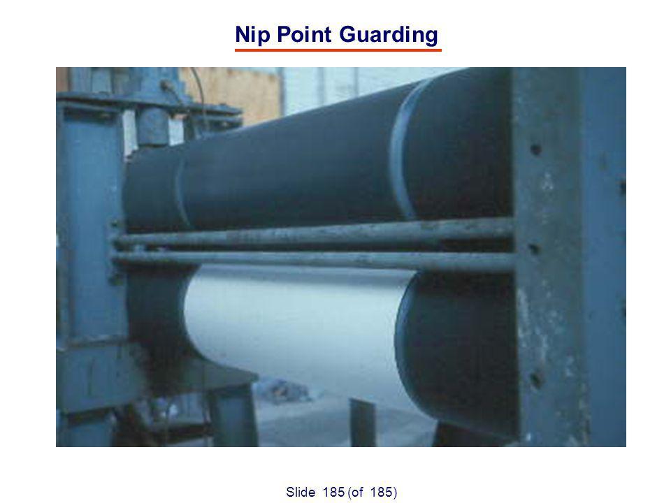 Slide 185 (of 185) Nip Point Guarding