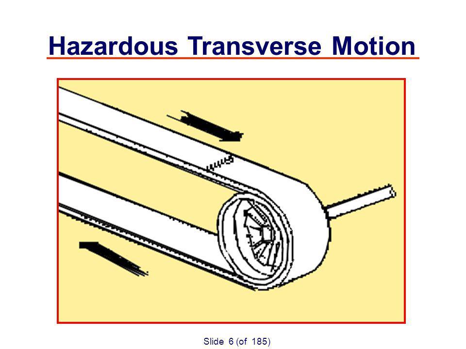 Slide 6 (of 185) Hazardous Transverse Motion