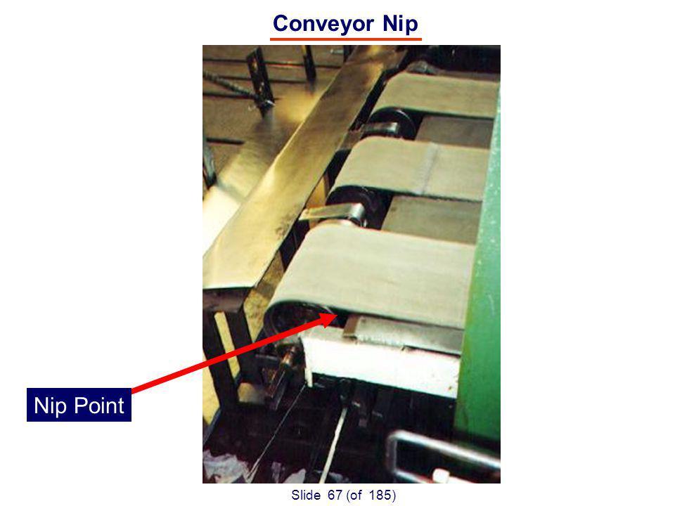 Slide 67 (of 185) Nip Point Conveyor Nip