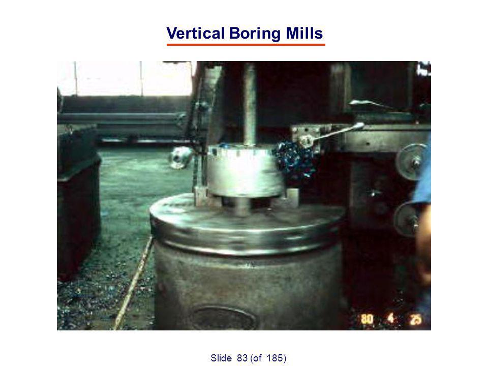 Slide 83 (of 185) Vertical Boring Mills