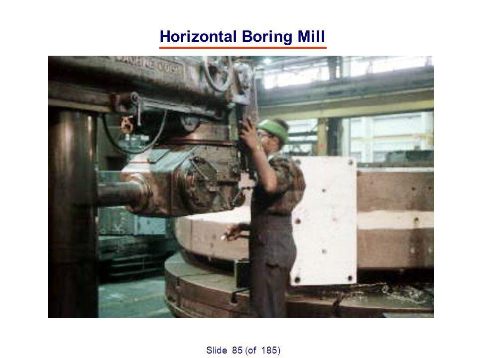 Slide 85 (of 185) Horizontal Boring Mill