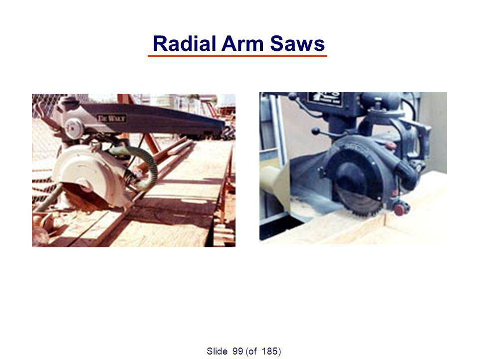 Slide 99 (of 185) Radial Arm Saws