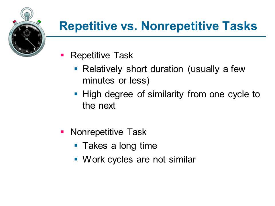 Repetitive vs.