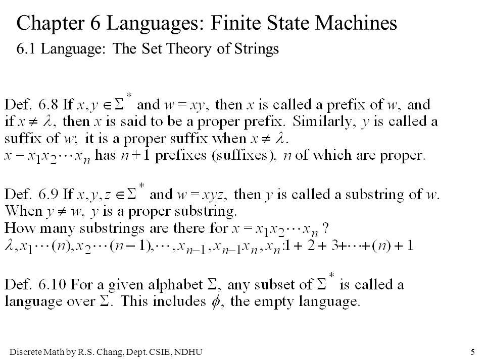 Discrete Math by R.S. Chang, Dept.