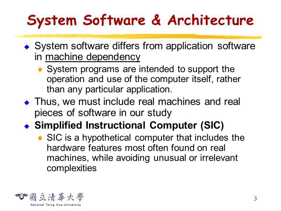 24 SIC/XE Machine Architecture (10/11) Example Instruction Format (PC) + disp (B) + disp + (X) ((PC) + disp) disp b/p/e + disp addr
