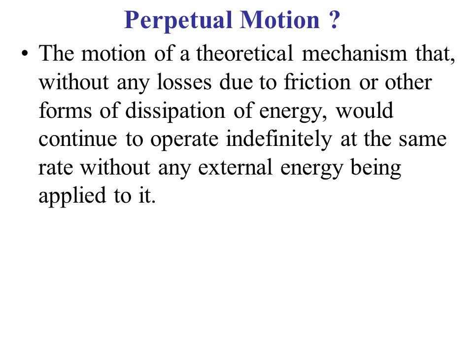Perpetual Motion .