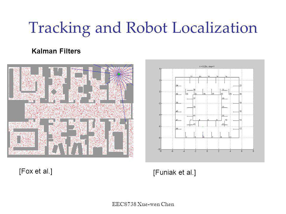 EECS738 Xue-wen Chen Tracking and Robot Localization [Fox et al.] [Funiak et al.] Kalman Filters