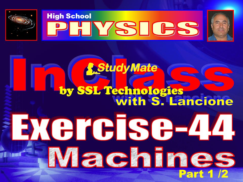 Physics Ex-44 Question-5 A weight of 400 N is lifted by a jack-screw whose pitch (height) is 5 mm.