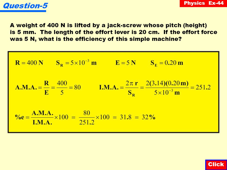 Physics Ex-44 Question-4 Stefania can push with a force of 75 N on a block of ice along an inclined plane.