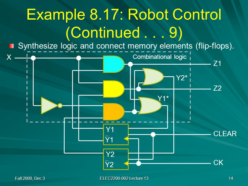 Example 8.17: Robot Control (Continued...