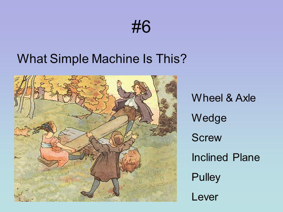 #5 What Simple Machine Is This Wheel & Axle Wedge Screw Inclined Plane Pulley Lever