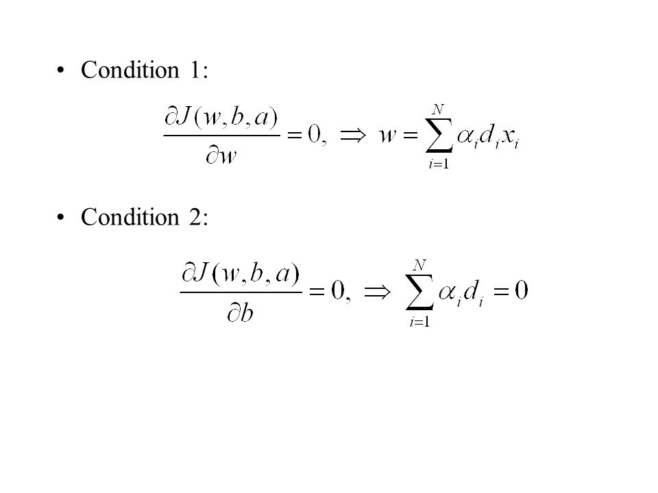 Condition 1: Condition 2:
