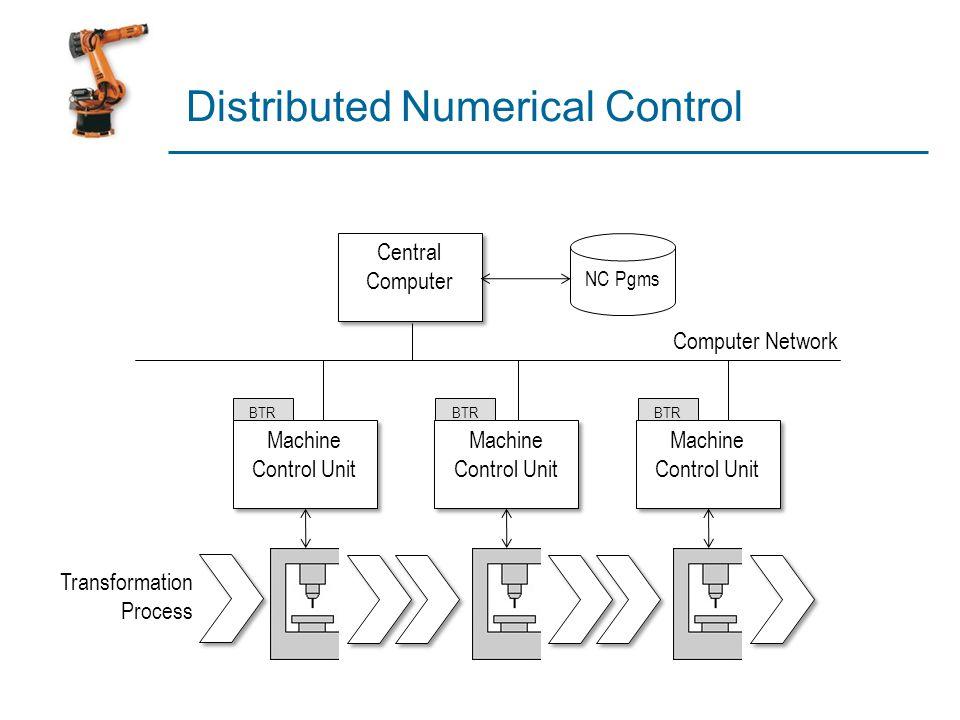 Distributed Numerical Control Machine Control Unit Machine Control Unit Transformation Process Machine Control Unit Machine Control Unit Machine Contr