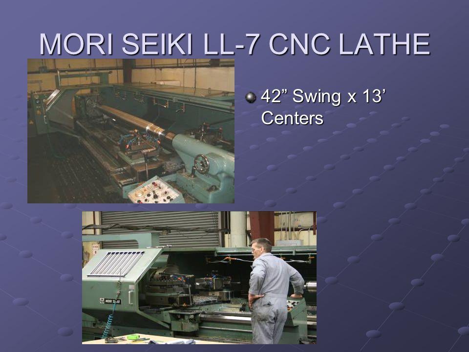 Additional CNC Equipment 3 CNC Lathes 12 x 42 1 CNC Machining Center 18x30x20 1 CNC Machining Center 16x25.5x18 CNC Programming System (SmartCAM) CNC Power Saw 12 Round