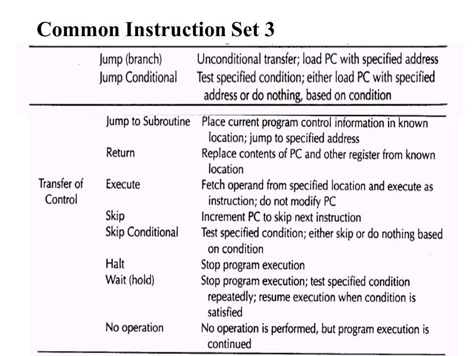 Common Instruction Set 3