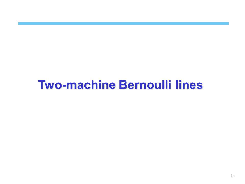 12 Two-machine Bernoulli lines