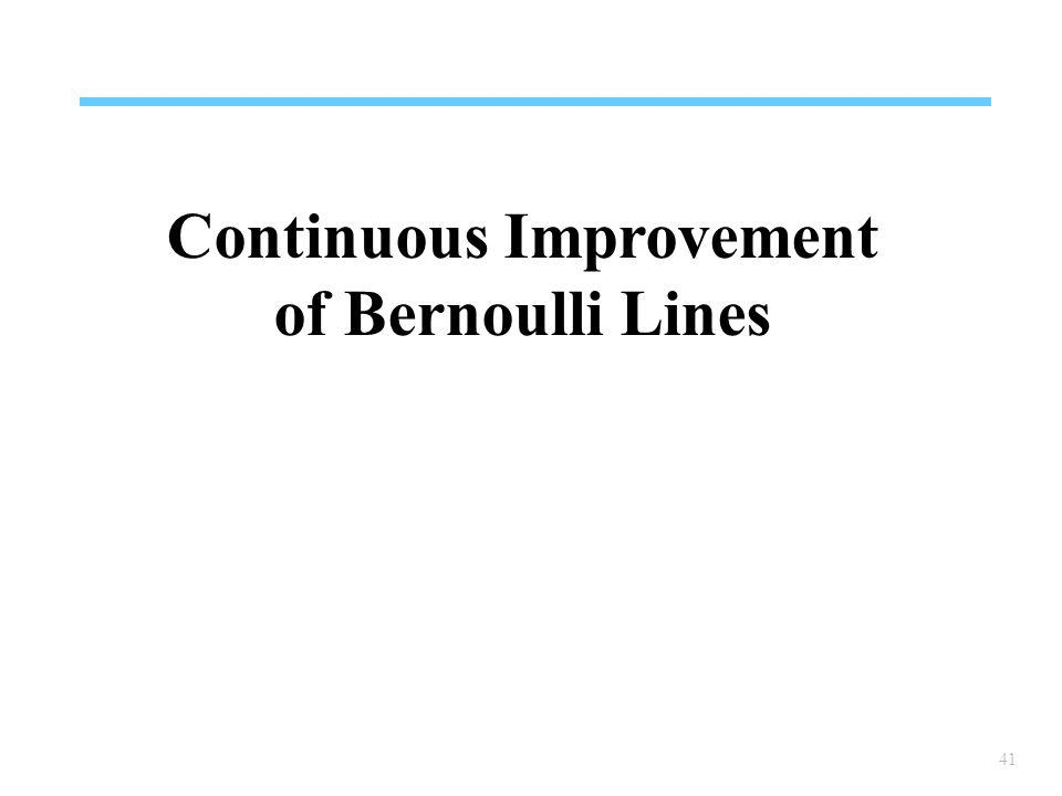 41 Continuous Improvement of Bernoulli Lines