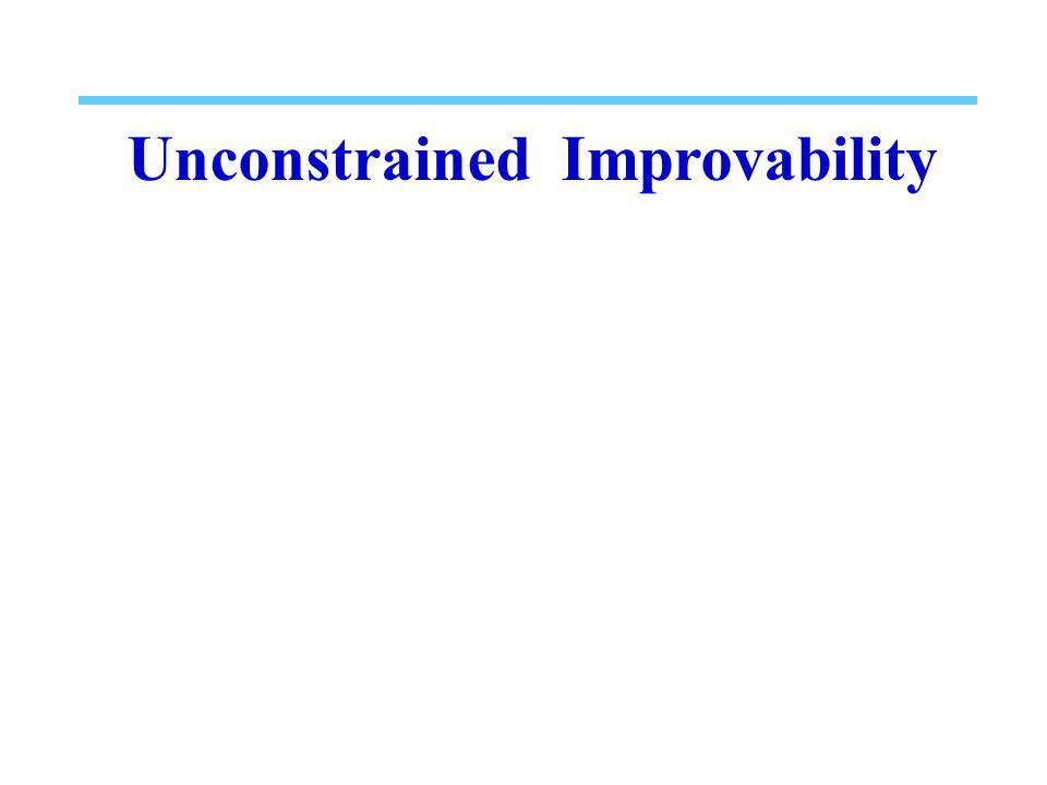 Unconstrained Improvability