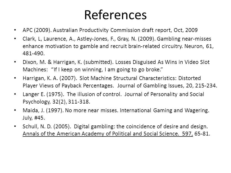 References APC (2009).