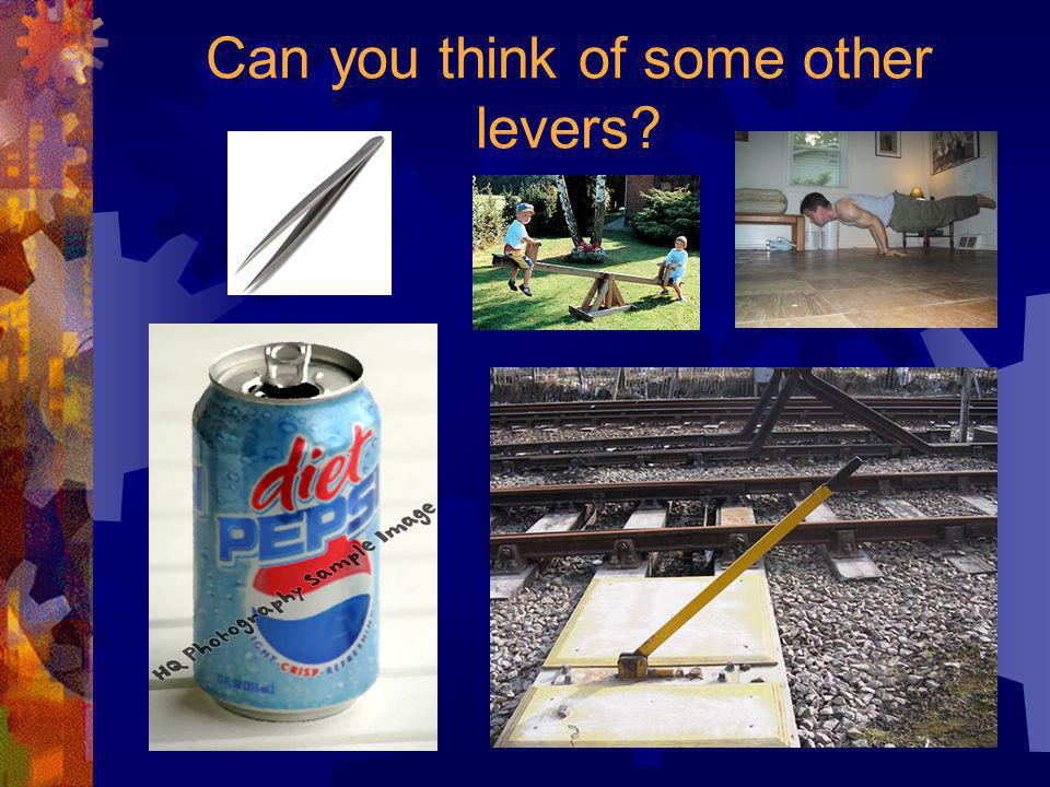 … is a board on top of something else. …can balance things or move them Actually, a lever…