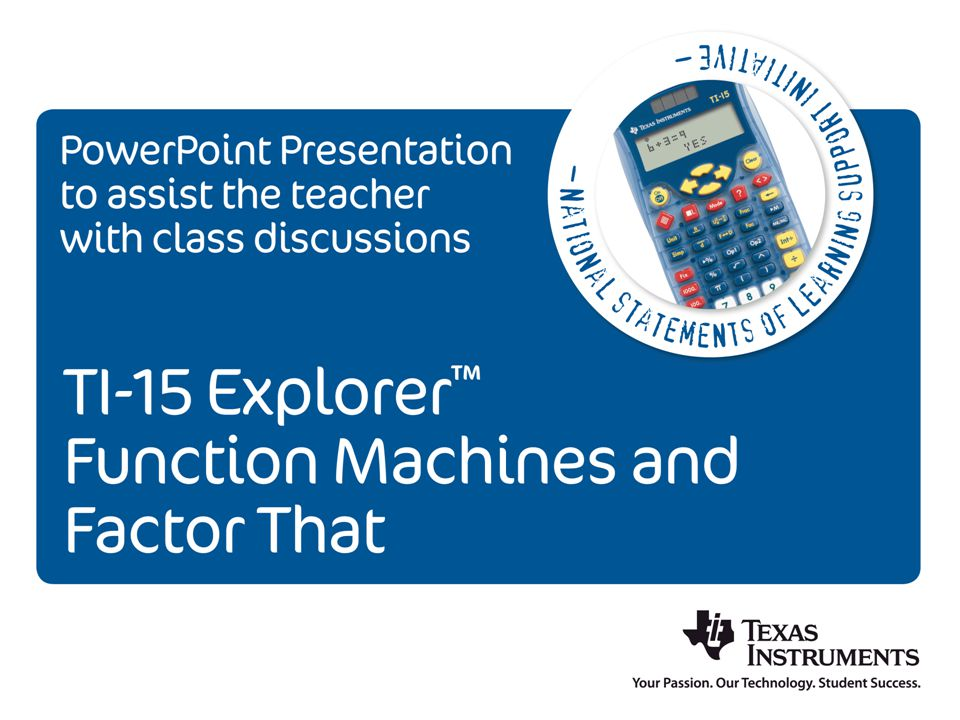 Single Function Machine Numbers are entered into a function machine 1, 2, 3, 4 ….