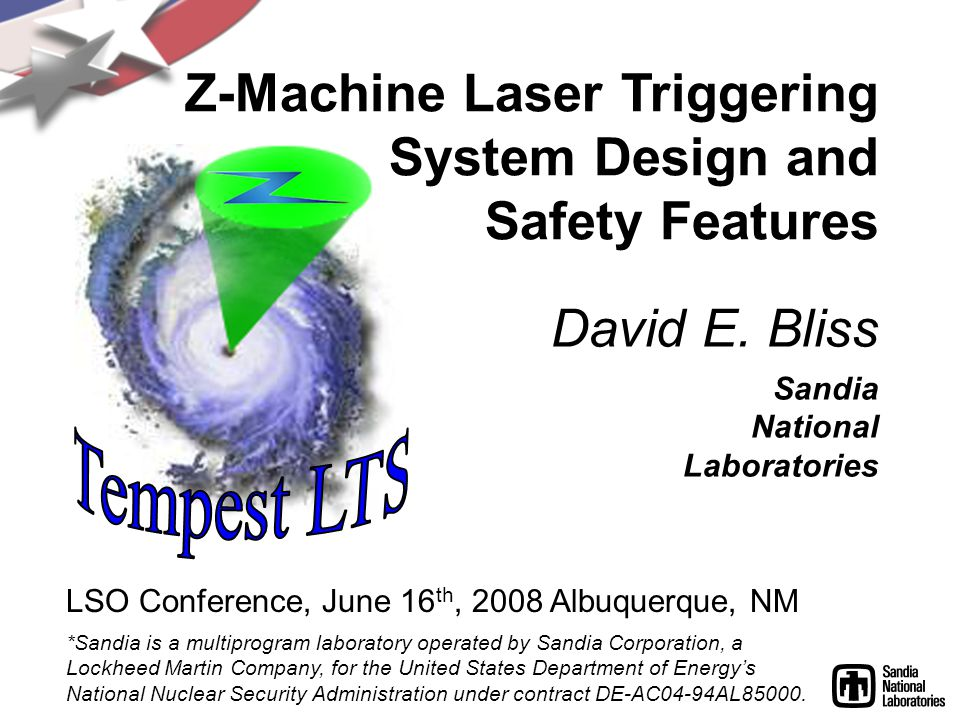 Z-Machine Laser Triggering System Design and Safety Features *Sandia is a multiprogram laboratory operated by Sandia Corporation, a Lockheed Martin Company, for the United States Department of Energys National Nuclear Security Administration under contract DE-AC04-94AL85000.