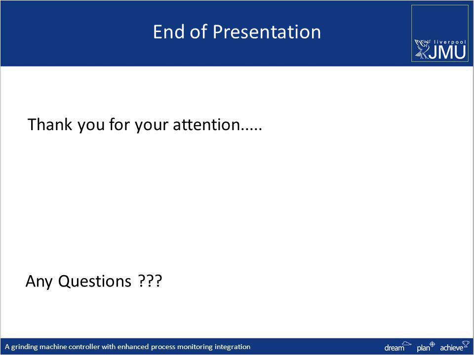 End of Presentation Any Questions ??.