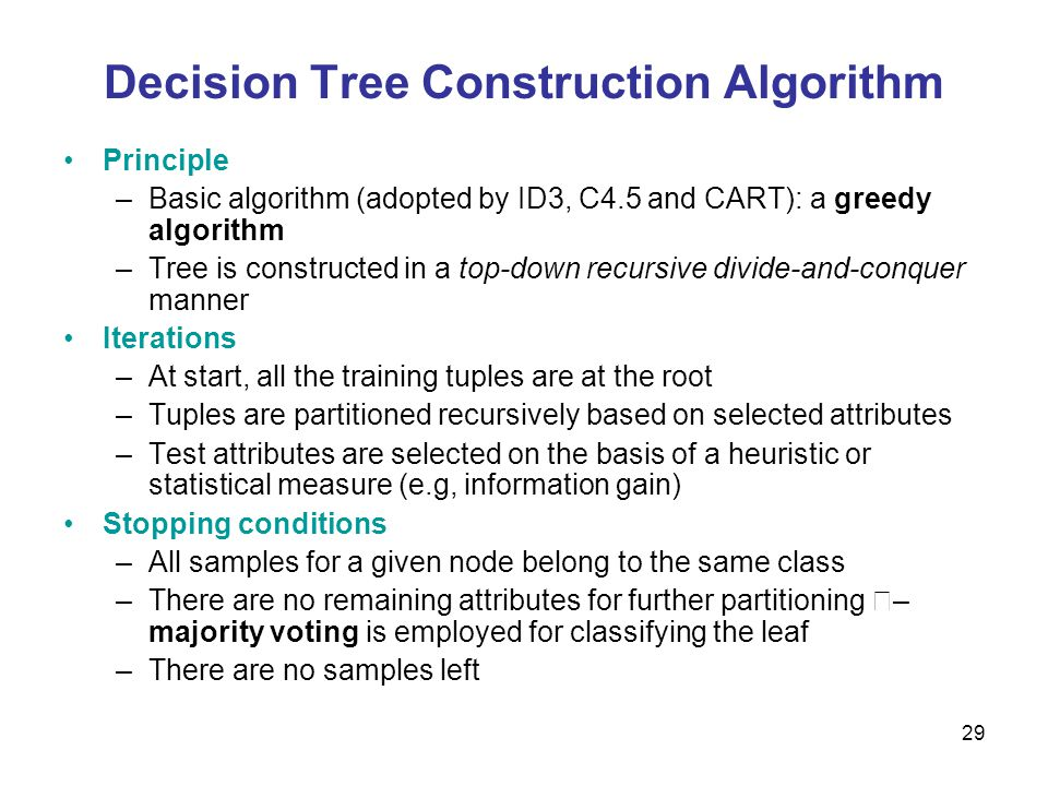 30 June 3, 2014Data Mining: Concepts and Techniques30 Decision Tree Induction: Training Dataset This follows an example of Quinlans ID3 (Playing Tennis)
