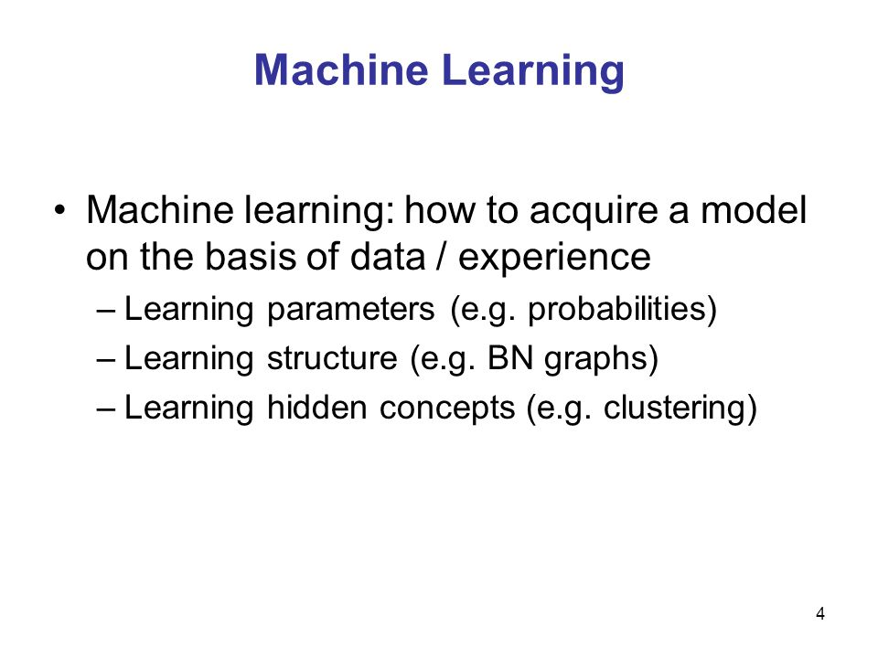 5 Machine Learning Areas Supervised Learning: Data and corresponding labels are given Unsupervised Learning: Only data is given, no labels provided Semi-supervised Learning: Some (if not all) labels are present Reinforcement Learning: An agent interacting with the world makes observations, takes actions, and is rewarded or punished; it should learn to choose actions in such a way as to obtain a lot of reward