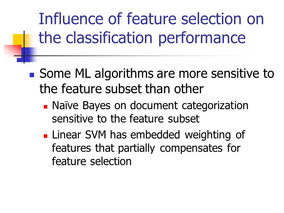 Illustration of feature selection Naïve Bayes on Yahoo.