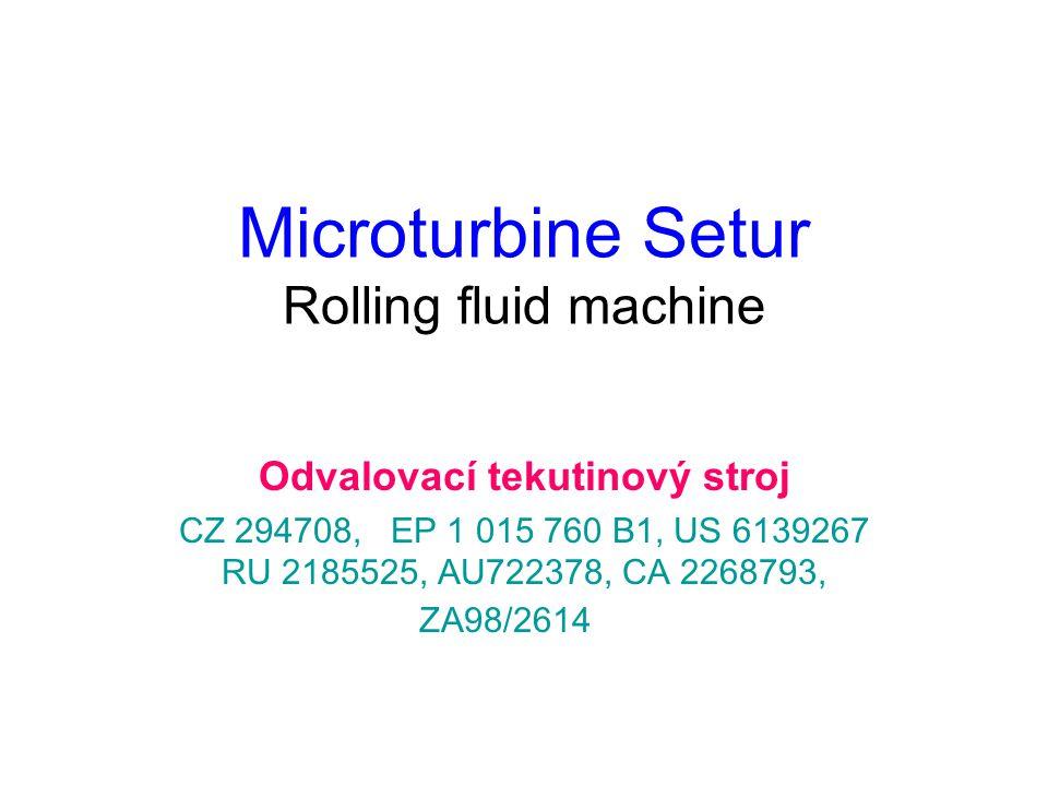 Microturbine Setur Rolling fluid machine Odvalovací tekutinový stroj CZ 294708, EP 1 015 760 B1, US 6139267 RU 2185525, AU722378, CA 2268793, ZA98/2614