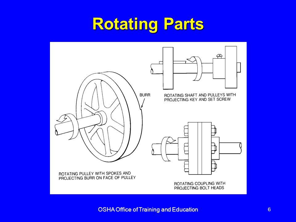 OSHA Office of Training and Education 6 Rotating Parts