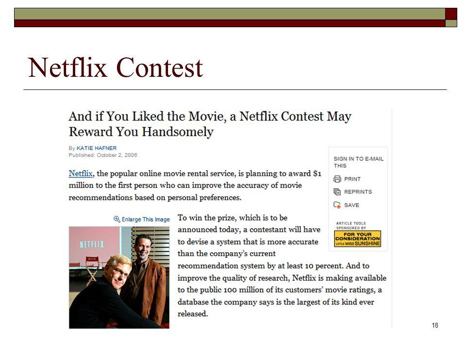 18 Netflix Contest