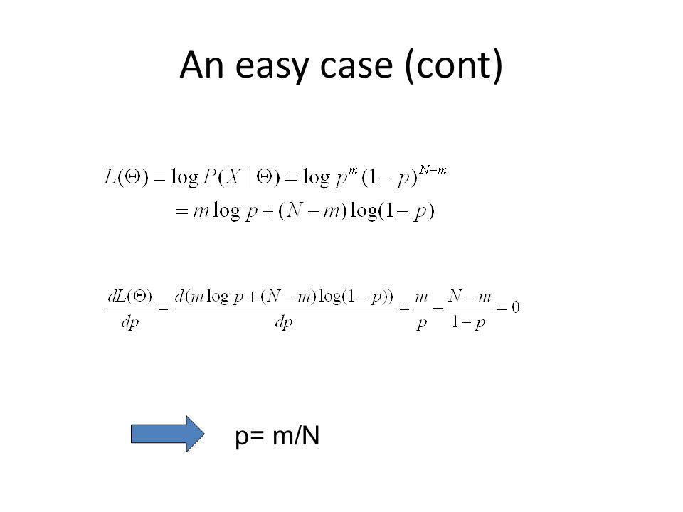 An easy case (cont) p= m/N