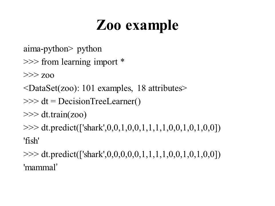 Evaluation methodology (1) Standard methodology: 1.