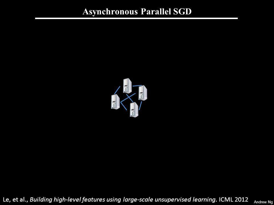 Andrew Ng Asynchronous Parallel SGD Le, et al., Building high-level features using large-scale unsupervised learning.