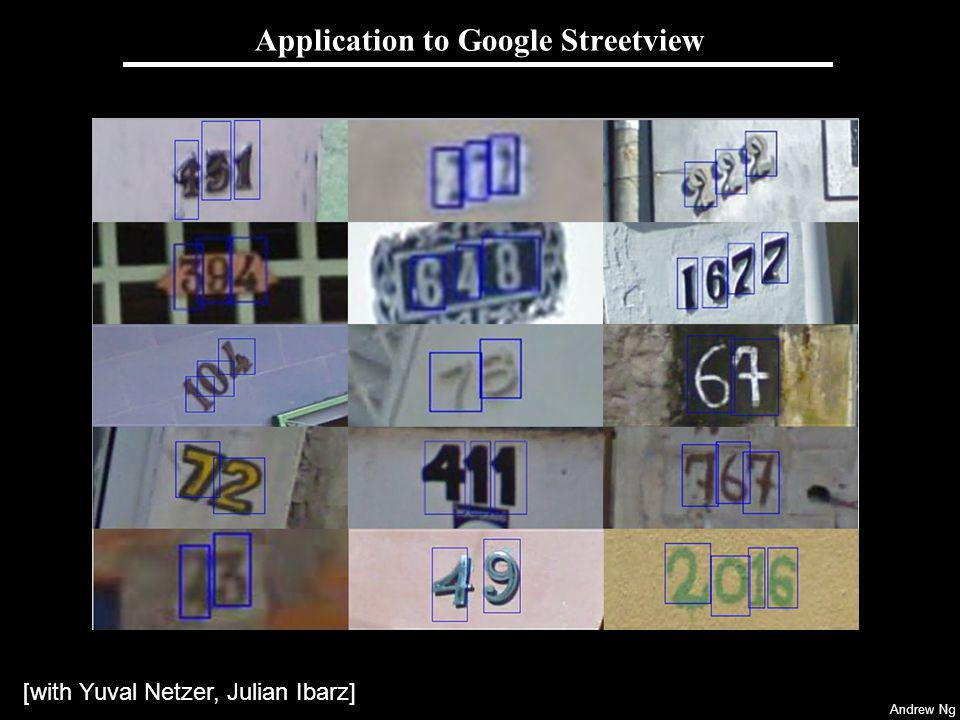 Andrew Ng Application to Google Streetview [with Yuval Netzer, Julian Ibarz]