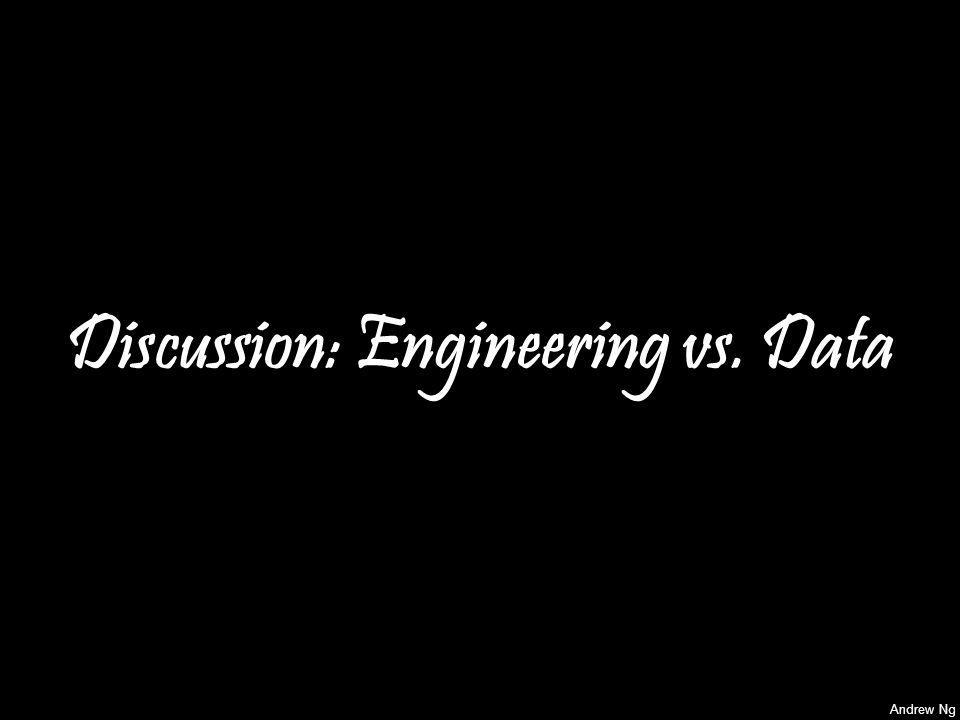 Andrew Ng Discussion: Engineering vs. Data