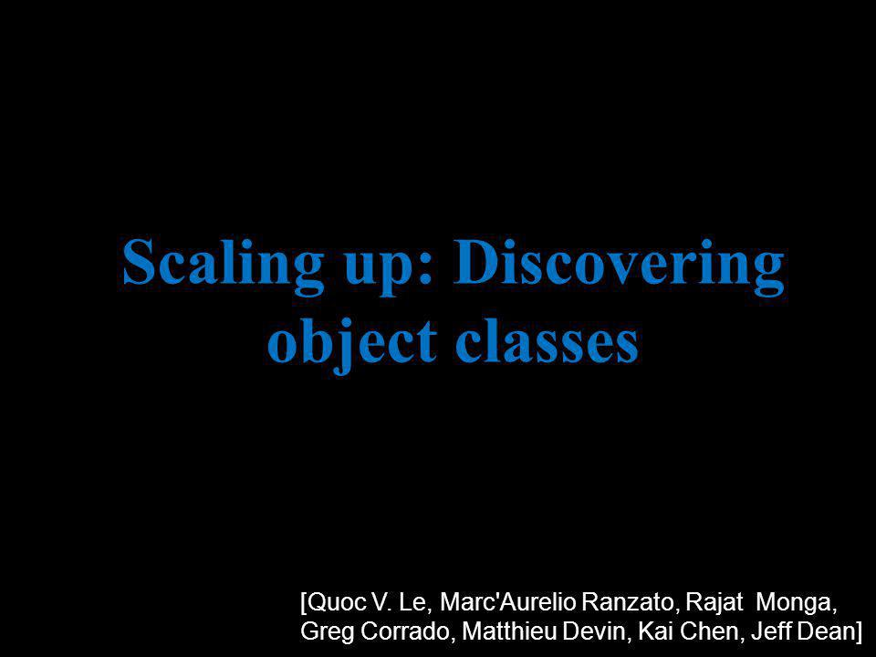 Scaling up: Discovering object classes [Quoc V.