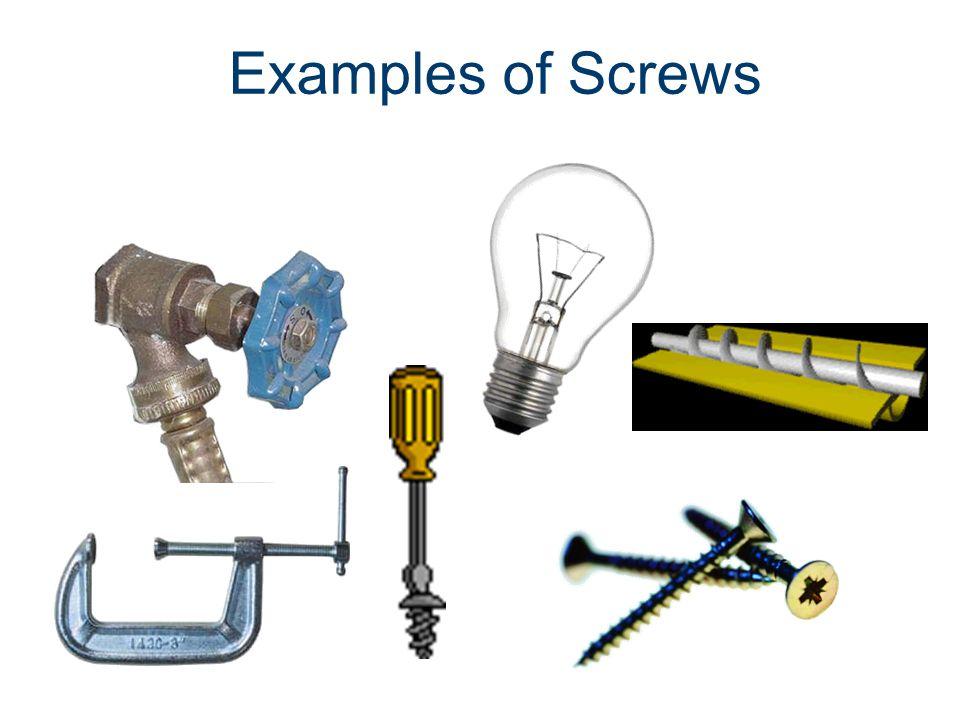 Examples of Screws