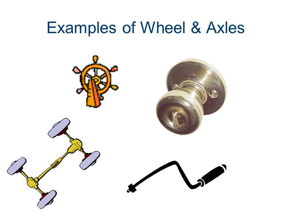Examples of Wheel & Axles