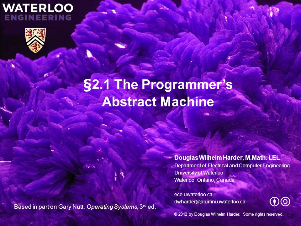 Chapter 2: Using the Operating System Topics: –The programmers abstract machine –Resources –Processes and threads –Writing concurrent programs –Objects 2